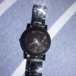 Gears bronze brown metal watch